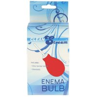 Clean Stream Red Enema Bulb